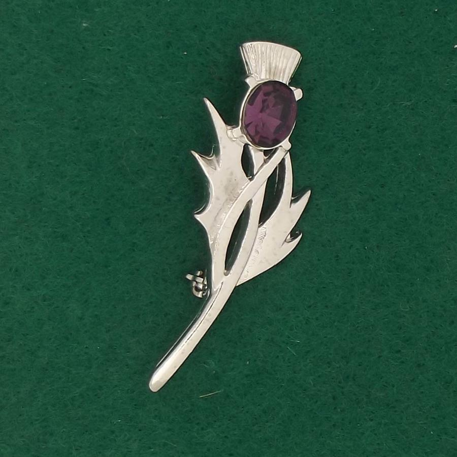 BR1661 Thistle with Amethyst
