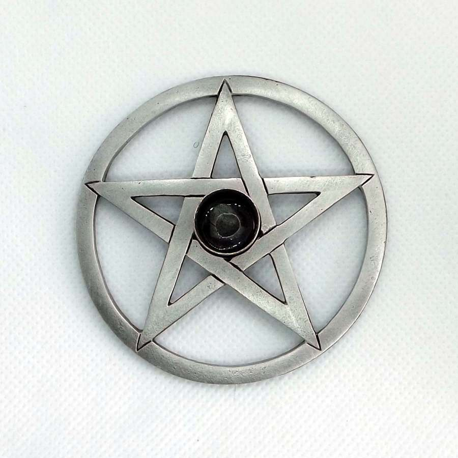 SCH0396 Pentagram Spell Candle holder