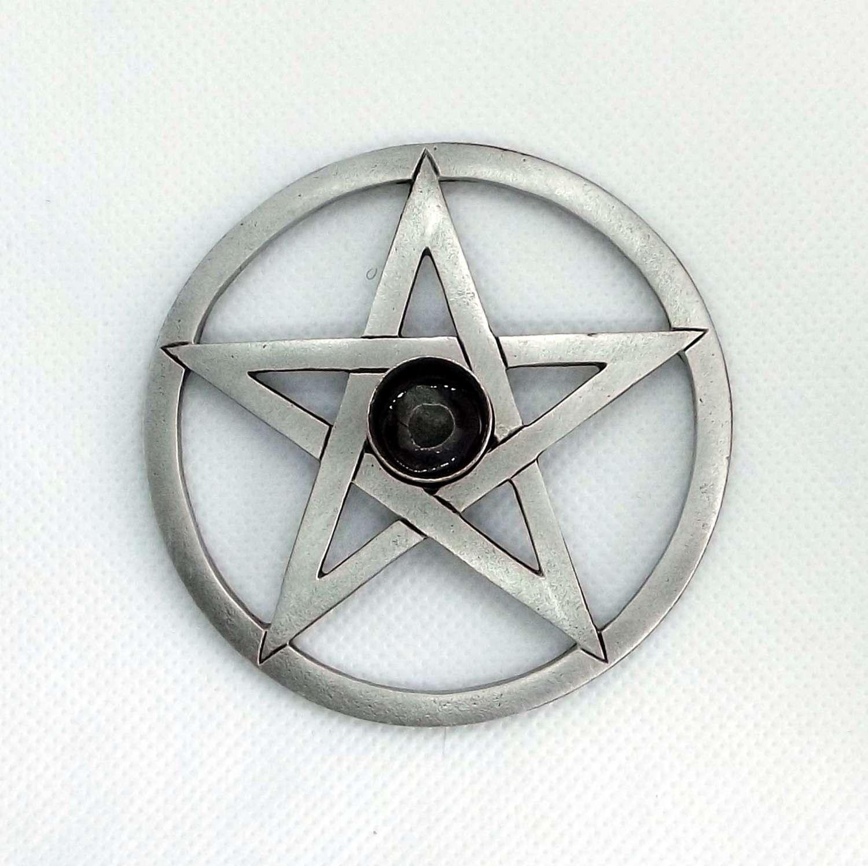 SCH0396 Pentagram Spell Candle holder